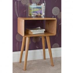 Retro Style Oak Bedside Table