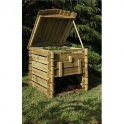 Wooden Beehive Shaped Compost Bin