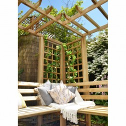 Large Wooden Trellis Arbour Bench