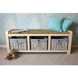 Selsey 3 Seater Storage Bench