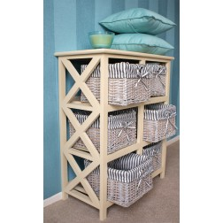 Selsey 6 Drawer Wicker Storage Unit