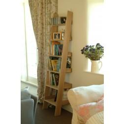 Small Raw Oak Bookshelf Ladder