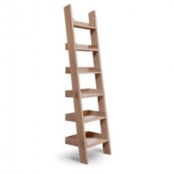 Small Raw Oak Bookshelf Ladder