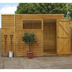 Sherbourne 10' x 6' Overlap Pent Wooden Garden Shed