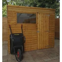 Sherbourne 8' x 6' Overlap Pent Wooden Garden Shed