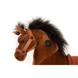 Small Brown Ride on Horse