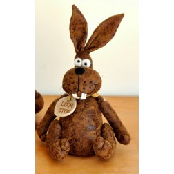 Small Bunny Rabbit Doorstop in Faux Leather