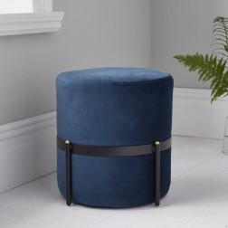 Velvet Stilts Footstool - Mystique Blue