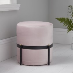 Velvet Stilts Footstool - Pale Pink