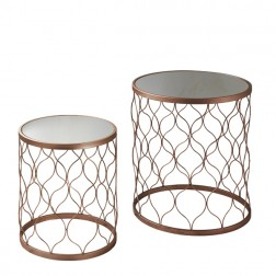 Mirrored Top Nesting Tables