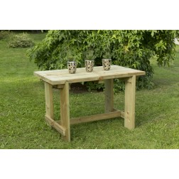 Robust And Sturdy Outdoor Garden FSC Wooden 1.2 m Refectory / Dining Table