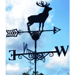 Superior Stag Design Black Weathervane in Solid Steel