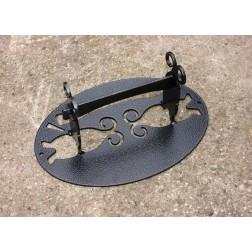 Victorian Style Solid Steel Boot Scraper - Black