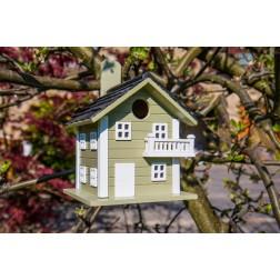 Beach House Hanging Bird House - Green