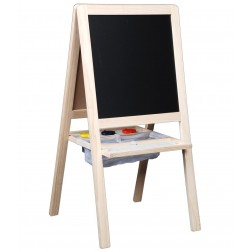 JUNIOR 4 in 1 CREATIVE ART EASEL WITH MAGNETIC BLACKBOARD WHITEBOARD
