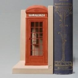 Telephone Box Bookend