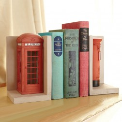 Telephone & Post Box Bookends