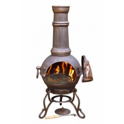 Cast Iron Large Bronze Chimenea