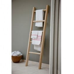 Raw Oak Towel Ladder Unit
