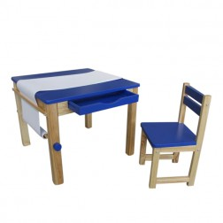 Blue Art Table and Chair