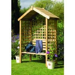 Wooden Trellis Arbour Bench