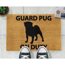 Guard Pug Doormat