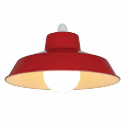 "Metal 14"" Red Lampshade"