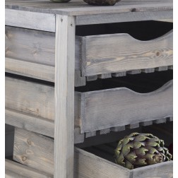 3 Drawer Pine Vegetable Store