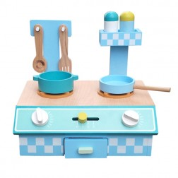 Blue Wooden Table Top Kitchen