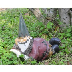 Laying Gnome Garden Ornament