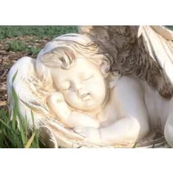 Sleeping Cherub Garden Ornament