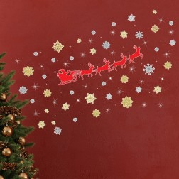 Snowflake and Reindeer Christmas Wall Sticker