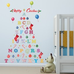 Alphabet Christmas Tree Wall Sticker