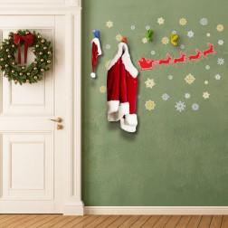 Coat Hook Christmas Wall Sticker