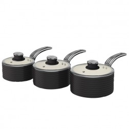 Black Retro Ceramic Saucepans
