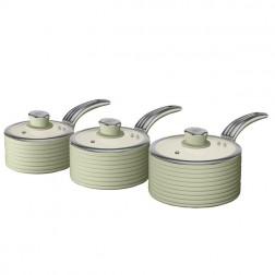 Green Retro Ceramic Saucepans