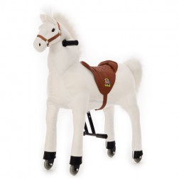 Medium White Ride on Horse