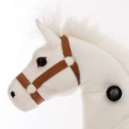 Small White Ride on Horse