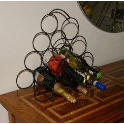 Solid Steel 10 Bottle Wine Rack