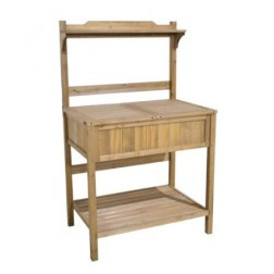 The Versatile Wooden Potting Bench Garden Workstation