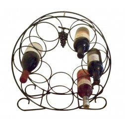 Solid Steel 7 Bottle Wine Rack