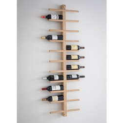 Raw Oak Wine Rack
