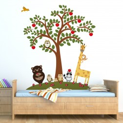 Animal Friends Tree Wall Sticker