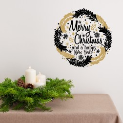 Merry Christmas Garland Wall Sticker