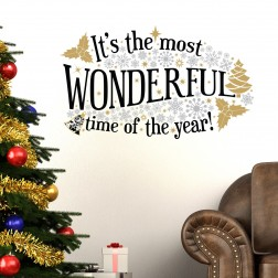 Most Wonderful Time Christmas Wall Sticker