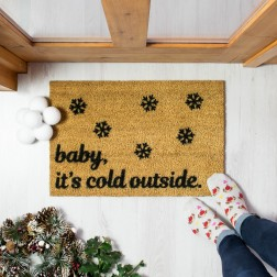 Baby It's Cold Outside Christmas Doormat