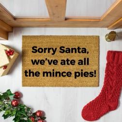 Mince Pies Christmas Doormat