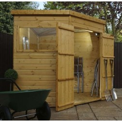 Yewdale Shiplap Corner Shed with Double Door