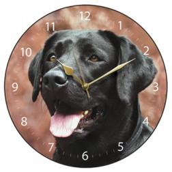 Black Labrador Wall Clock