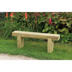 Solid FSC Wooden 1.2m Garden Sleeper Bench
